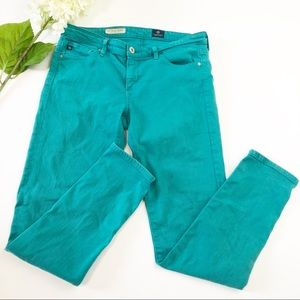 AG Adriano Goldschmied Teal Jeans Pants